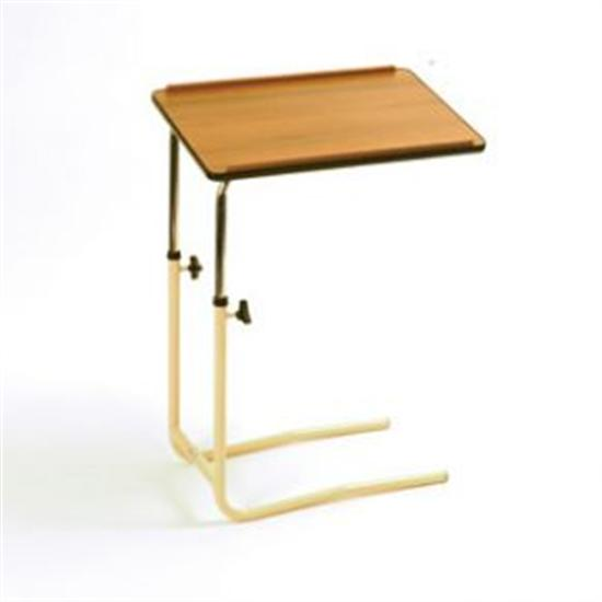 Over bed chair table split leg without castors for Divan overbed table