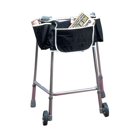 Walking Frame Apron Bag - Tie Ion For Easy Of Use.
