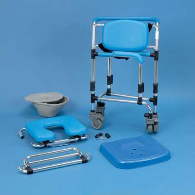 ocean folding transit shower commode wheelchair