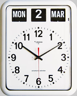 Large Calendar Wall Clock For Users With Limited Vision