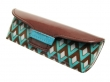 Glasses Case Bright Art Deco Retro Style Brown/Blue