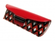 Glasses Case Bright Art Deco Retro Style Red/Black