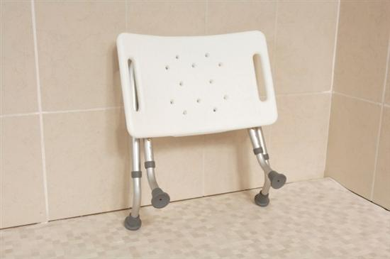 Folding Shower Stool With Moulded Plastic Feet