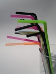 Flexible One-Way Straws