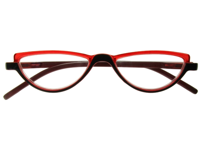 Abby Black/Red Frame Reading Glasses With Carry Pouch