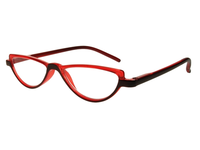 Eyeglass Frame Board Management : Abby Black/Red Frame Reading Glasses With Carry Pouch