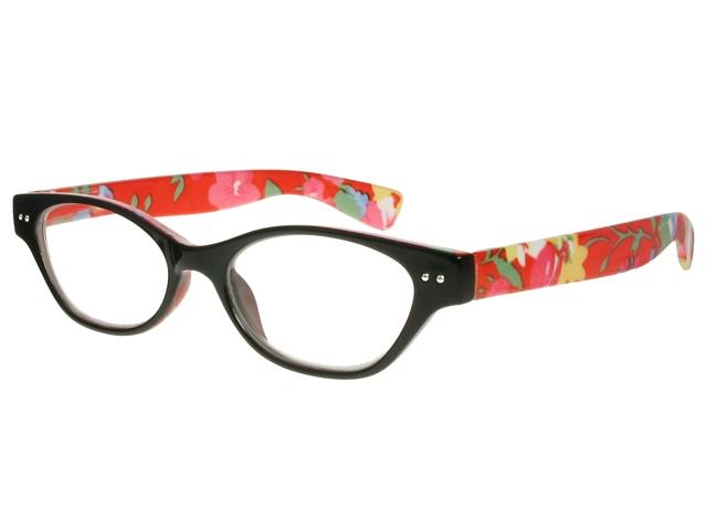 Eyeglass Frame Board Management : Audrey Black/Orange Frame Reading Glasses With Case.