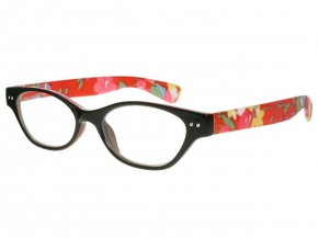 Audrey Black And Orange Frame Reading Glasses