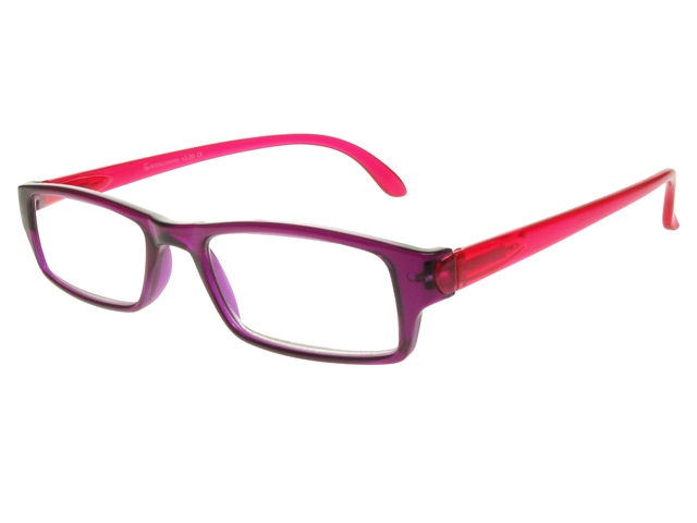 Eyeglass Frame Board Management : Jazz Purple/Red Frame Reading Glasses With Carry Pouch