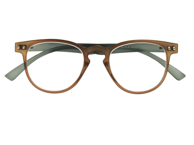 Gray Frame Reading Glasses : Kent Brown/Grey Frame Reading Glasses