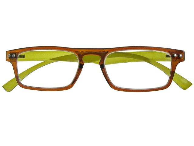 Eyeglass Green Frame : Mod Brown/Green Frame Reading Glasses