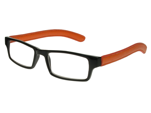 Prague Black/Orange Frame Reading Glasses