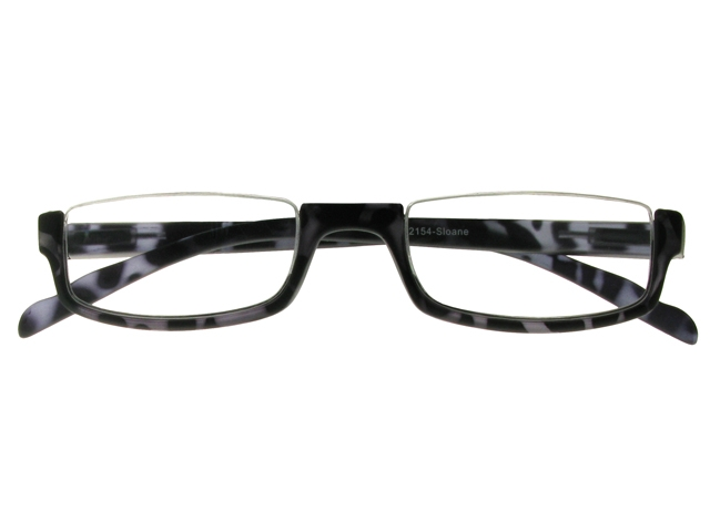 Gray Frame Reading Glasses : Sloane Black And Grey Frame Reading Glasses With Pouch