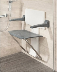 Slim Fold Shower Seat (Various Colours)