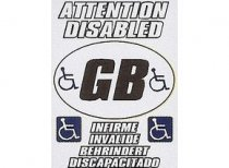 Attention Disabled Multi Language Notice