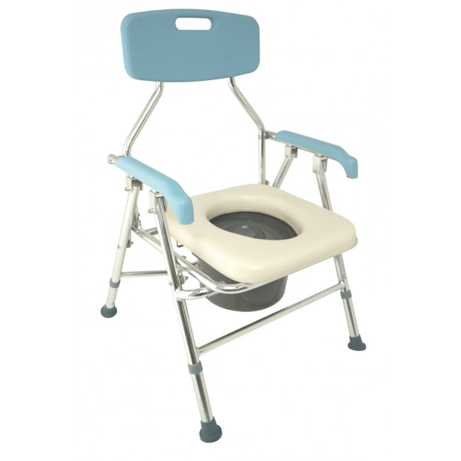 Folding Lightweight Aluminium Height Adjustable Commode