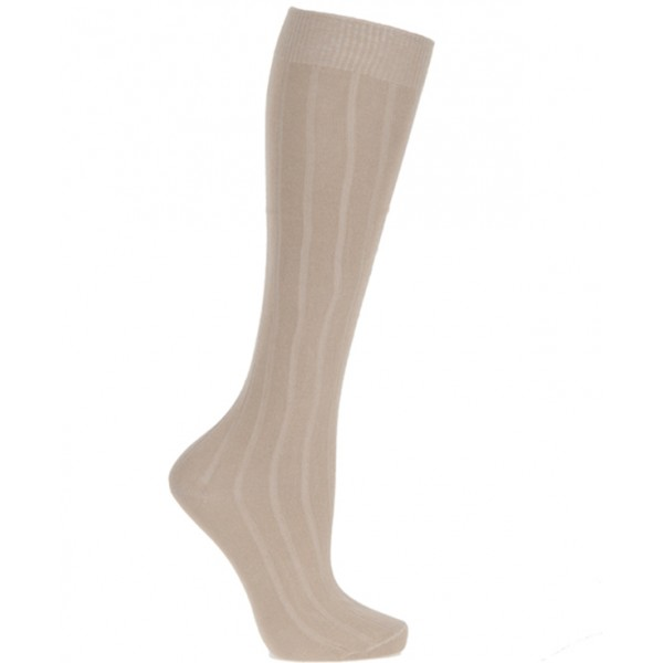 Extra Roomy Cotton-rich Knee High Socks 2 Pair Pack
