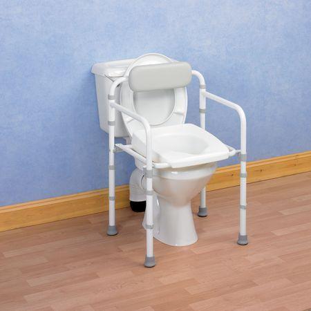 Folding Toilet Frame With Backrest Active Mobility Centre