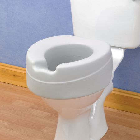 Comfortable Foam Raised Toilet Seat Without Lid