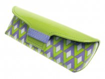 Glasses Case Bright Art Deco Retro Style Green/Purple