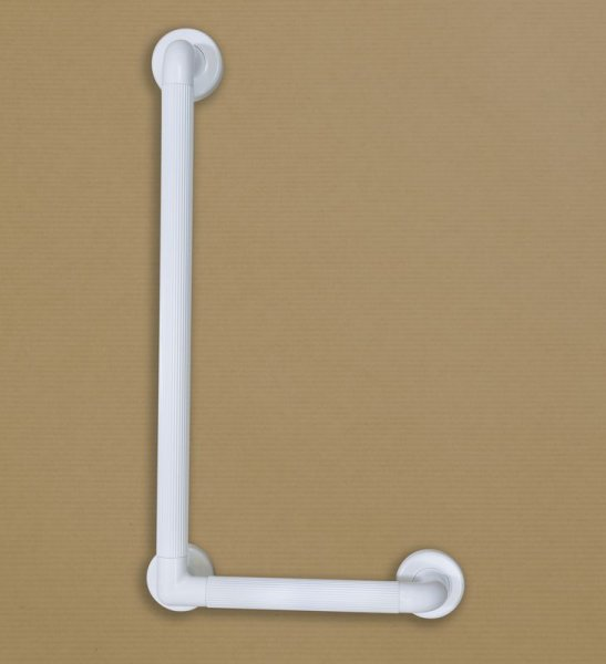 Grab Bar Plastic Fluted Coloured Angled