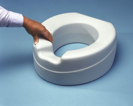 Comfy Foam Raised Toilet Seat Without Lid