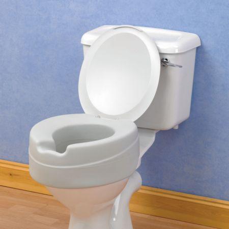 Comfortable Foam Raised Toilet Seat With Plastic Lid