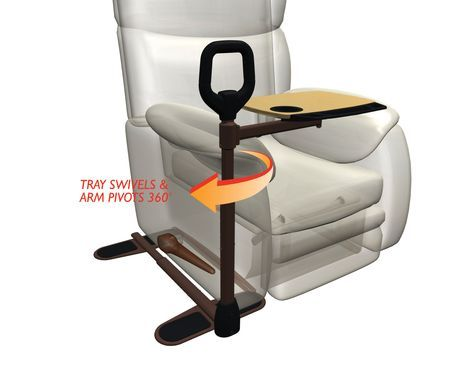 Couch Cane With Assist A Tray And Cup Holder
