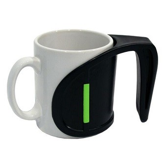 Duo Cup And Mug With Handle Has Ergonomic Design