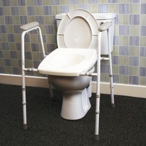Collapsible Adjustable Height/Width Stirling Deluxe Toilet Frame