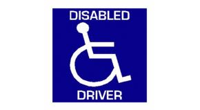 Disabled Driver Interior Car Window Sticker
