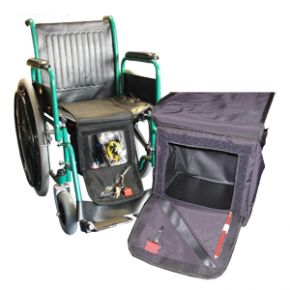 Wheelchair Down Under Storage Bag With Velcro Fasteners