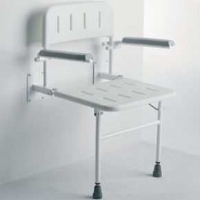 Wall Mounted Seat With Arms