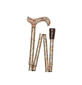 Cream Floral Walking Stick