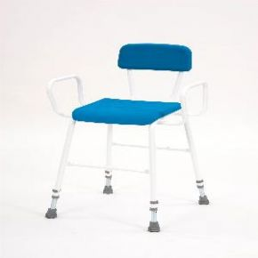 Deluxe Perching Stool With Back and Arms