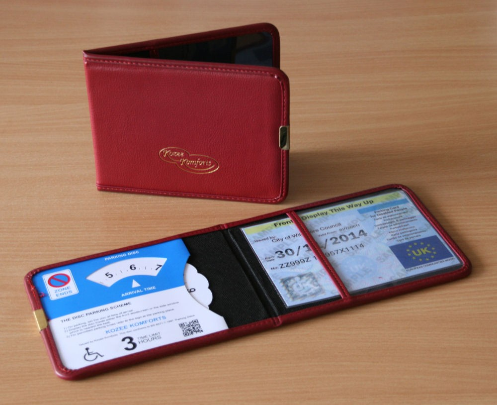 Plastic Blue Badge And Parking Clock Wallet