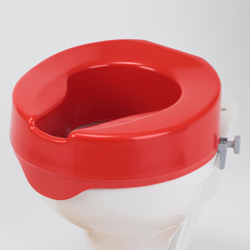 Red Ashby Raised Toilet Seat