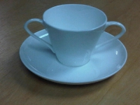 Two-Handled Cup With Saucer