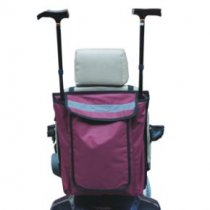 Wheelchair / Scooter Bag With Walking Stick / Crutch Holder